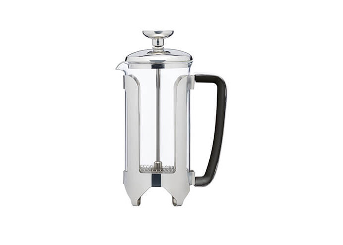 KitchenCraft Le'Xpress Deluxe 3-Cup Glass/Stainless Steel Cafetière, 350 ml (0.5 Pints) - 1