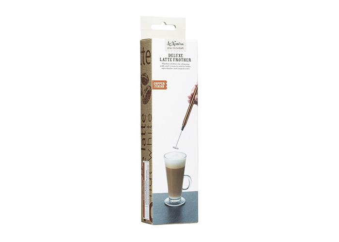 KitchenCraft Le'Xpress Handheld Electric Milk Frother - Copper Finish - 2