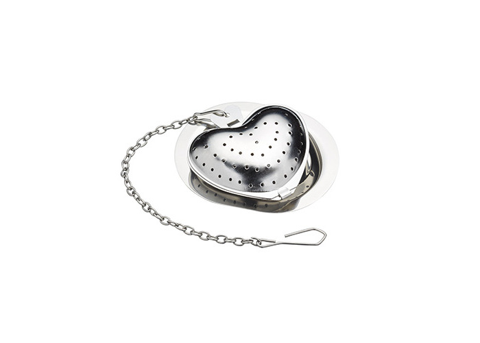 KitchenCraft Le'Xpress Heart-Shaped Tea Infuser with Drip Tray, 1 Cup (350 ml) - 1