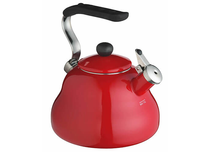 KitchenCraft Le'Xpress Induction-Safe Whistling Stovetop Kettle, 2 L (3.5 Pints) - Chilli Red - 1