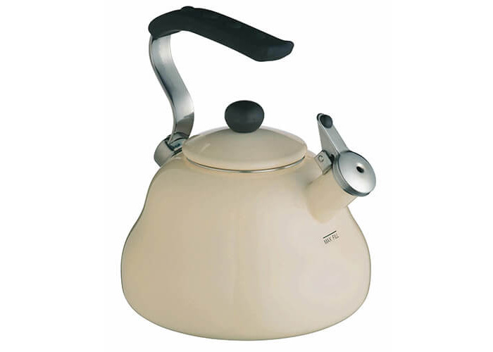 KitchenCraft Le'Xpress Induction-Safe Whistling Stovetop Kettle, 2 L (3.5 Pints) - Seashell Cream - 1