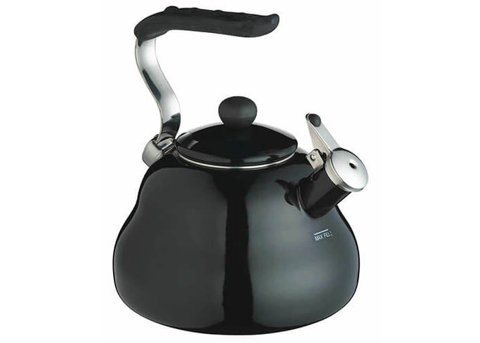 KitchenCraft Le'Xpress Induction-Safe Whistling Stovetop Kettle, 2 Litres (3.5 Pints) - Midnight - 1