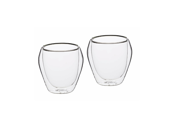 KitchenCraft Le'Xpress Insulated Double-Walled Glass Tumblers, 250 ml (Set of 2) - 1