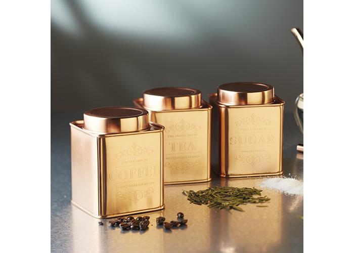 KitchenCraft Le'Xpress Metal Tea Caddy, 10 x 12 cm - Copper Finish - 2