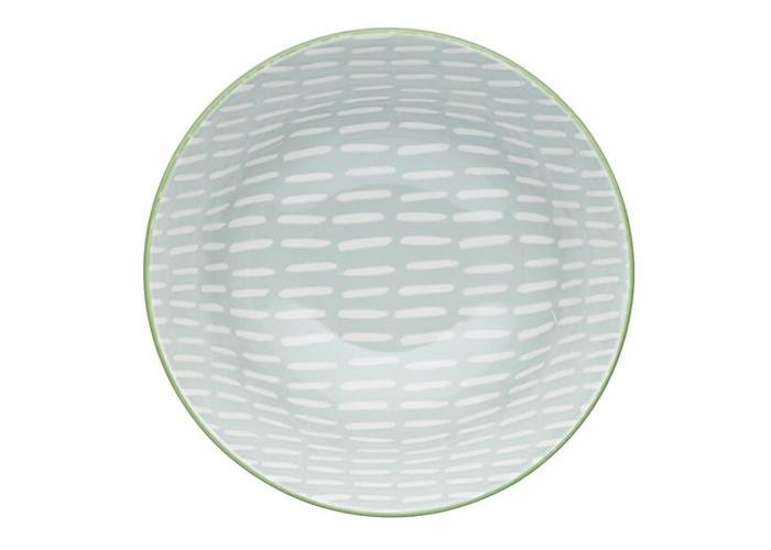 KitchenCraft Light Grey Pattern 15.7cm Ceramic Bowl - 2