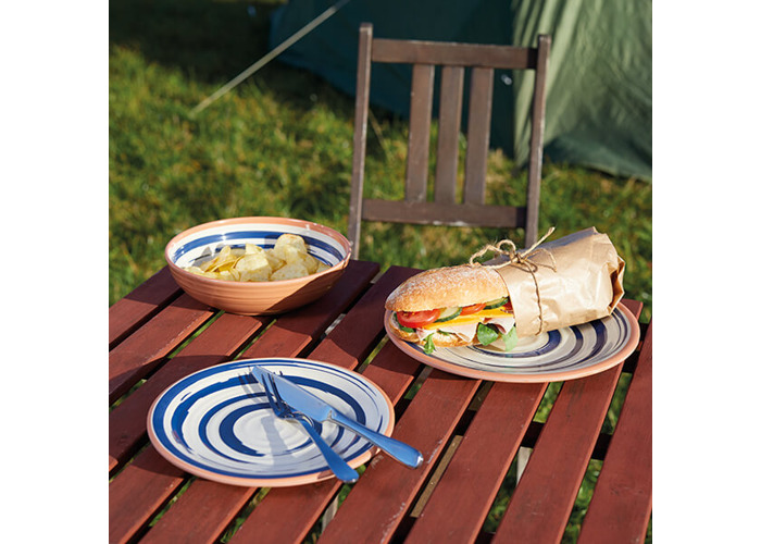 KitchenCraft Lulworth Melamine 21cm Snack Plate - 2