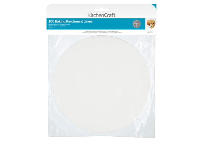 """KitchenCraft Non-Stick Greaseproof Baking Parchment Paper, 23 cm (9"""") - Round (Pack of 100) - 1"""