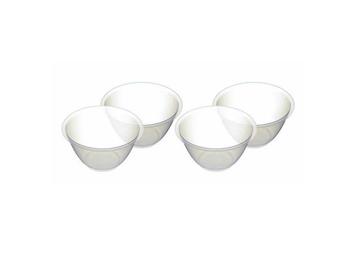 KitchenCraft Plastic Mixing Bowls, 800 ml (Set of 4) - 1