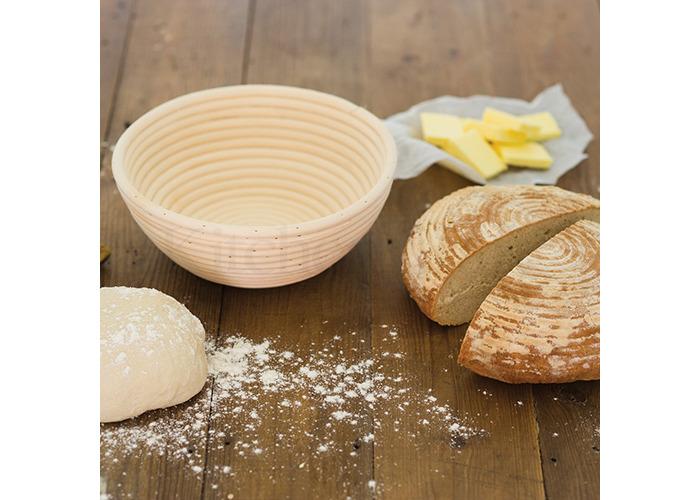 KitchenCraft Round Loaf Proving Basket, 22 x 8.5cm - 2