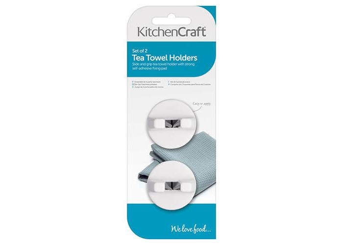 KitchenCraft Set Of 2 Towel Holders White - 2