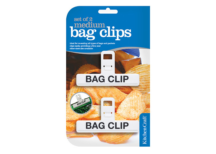 KitchenCraft Set of Two Medium Plastic Bag Clips - 1