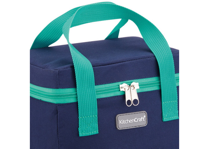 KitchenCraft Small Lunch Cool Bag, 4.9 L (1 gal) - Navy Blue / Teal - 2