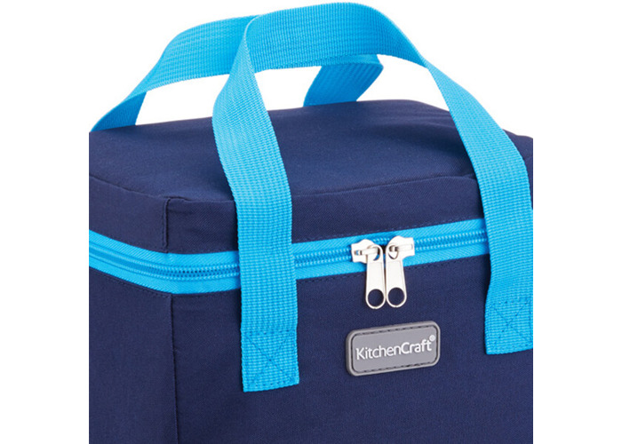 KitchenCraft Small Lunch Cool Bag, 4.9 L (1 gal) - Navy Blue / Turquoise - 2