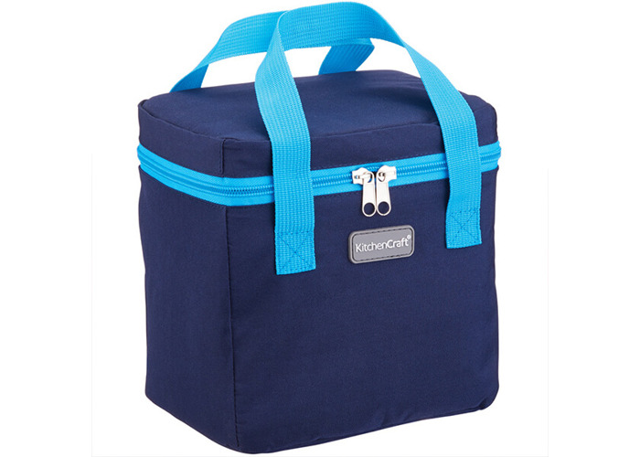 KitchenCraft Small Lunch Cool Bag, 4.9 L (1 gal) - Navy Blue / Turquoise - 1