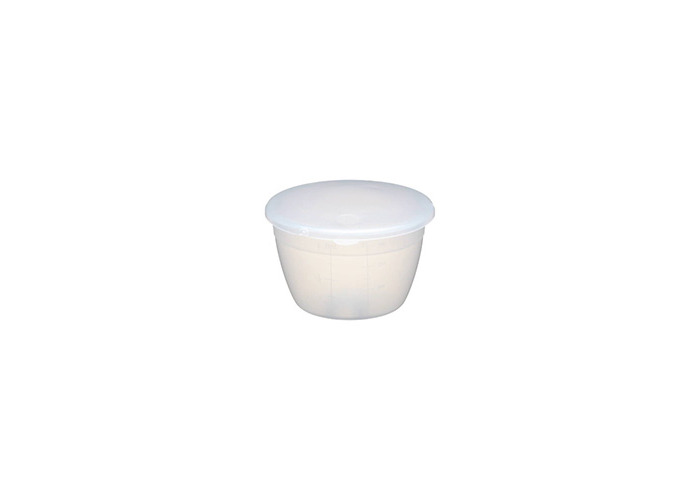 KitchenCraft Small Plastic Pudding Basin with Lid, 275 ml (0.5 Pints) - 1