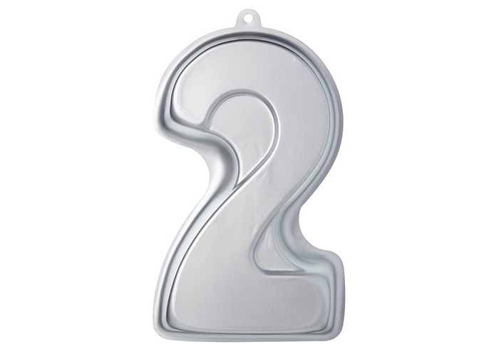 KitchenCraft Sweetly Does It Novelty Number '2' Cake Tin (Two), 30 x 18.5 x 5 cm - 1