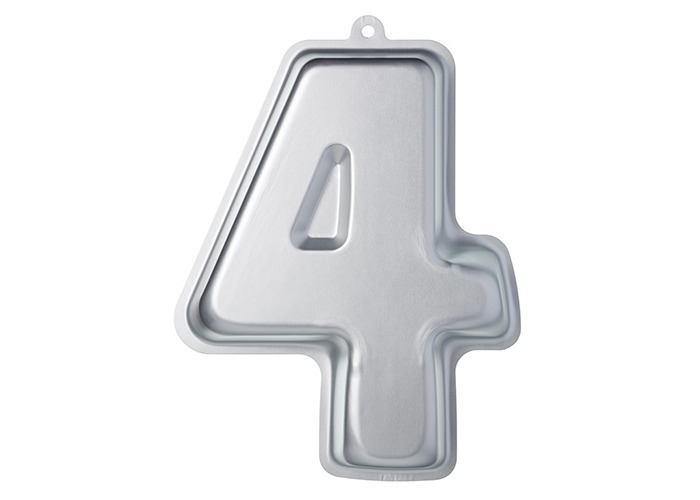 KitchenCraft Sweetly Does It Novelty Number '4' Cake Tin (Four), 30 x 23.5 x 5 cm - 1