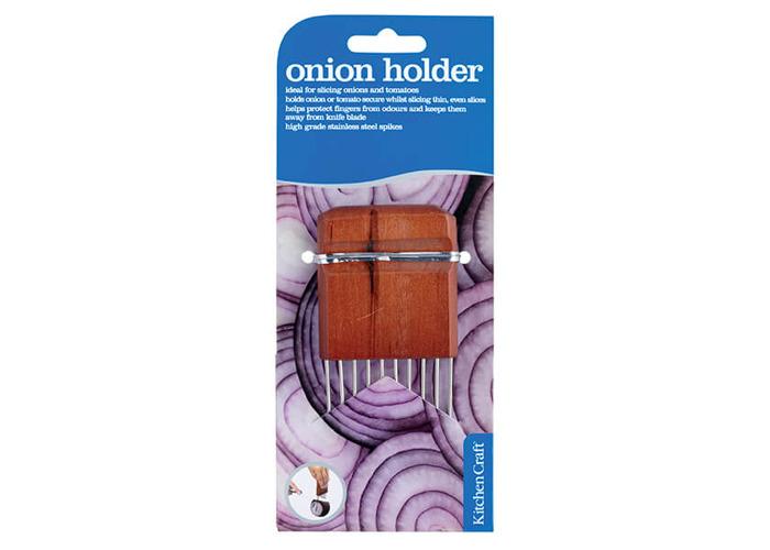 KitchenCraft Wood Handled Onion Holder - 2