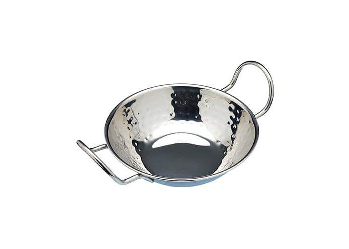 "KitchenCraft World of Flavours Indian Hammered Metal Balti Serving Dish, 17 cm (6.5"") - 1"