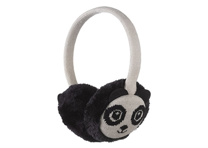 KitSound Audio On-Ear Earmuffs with Built In Headphones Compatible with iPod, iPhone, Samsung and Android Devices - Panda - 1