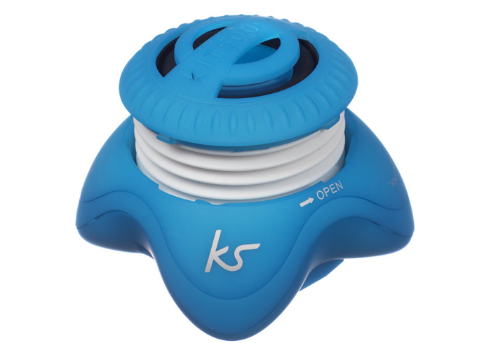 KitSound Invader Universal Portable Mini Speaker with 3.5 mm Jack Compatible with Smartphones/Tablets and MP3 Devices - Blue - 2