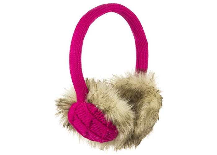 KitSound Winter Collection Audio Diamond Knit On-Ear Earmuffs with Built In Headphones Compatible with iPod, iPhone, iPad, Samsung and Android Devices - Pink - 1