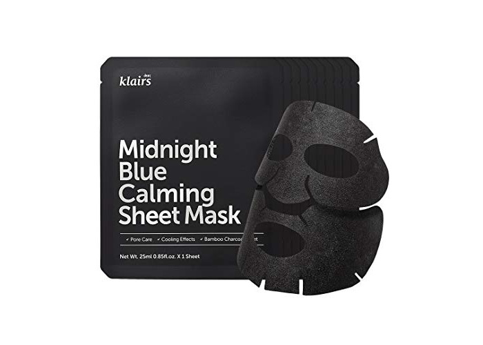 KLAIRS Midnight Blue Calming Sheet Mask 10 Sheets, K-Beauty - 1