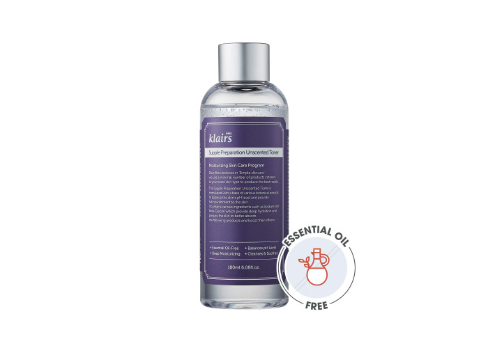 [KLAIRS] Supple Preparation Unscented Toner 180ml lightweight, essential oil-free, alcohol free - 2
