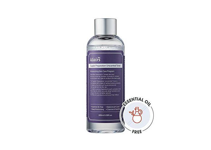 [KLAIRS] Supple Preparation Unscented Toner 180ml lightweight, essential oil-free, alcohol free - 1