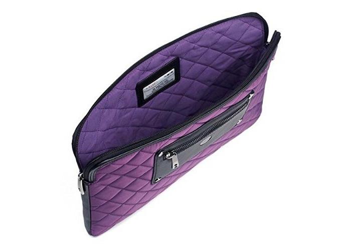 "Knomo Luxurious Universal Laptop, Tablet, Notebooks Sleeve, Wallet, Envelope, Second Skin Cover Bag (13"", Lavender) - 2"