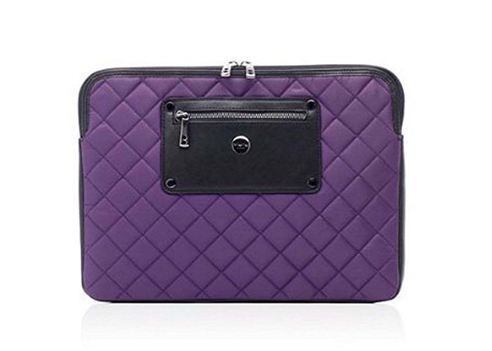 "Knomo Luxurious Universal Laptop, Tablet, Notebooks Sleeve, Wallet, Envelope, Second Skin Cover Bag (13"", Lavender) - 1"