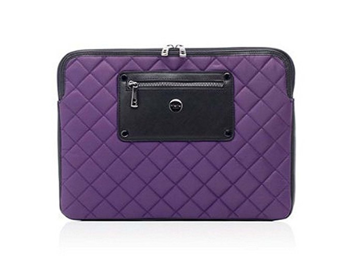 "Knomo Luxurious Universal Laptop, Tablet, Notebooks Sleeve, Wallet, Envelope, Second Skin Cover Bag (13"", Violet) - 1"