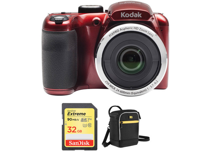 Kodak PIXPRO AZ252 Digital Camera Basic Kit (Red) - 2