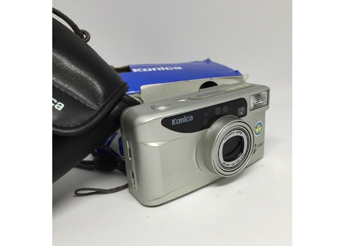 Konica Z up 125e-analoge Camera Boxed + case + Instruction book 38-125mm  lens217