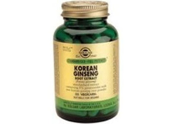 Korean Ginseng (Panax Ginseng) 60Vegetable Capsules, Solgar - 1