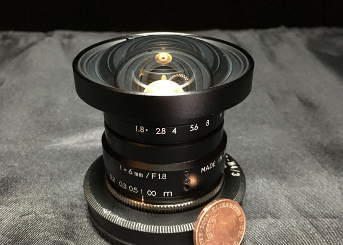 Kowa 6mm F1.8 For M4/3 Cameras (BMPCC,GH4,GH5) - 1