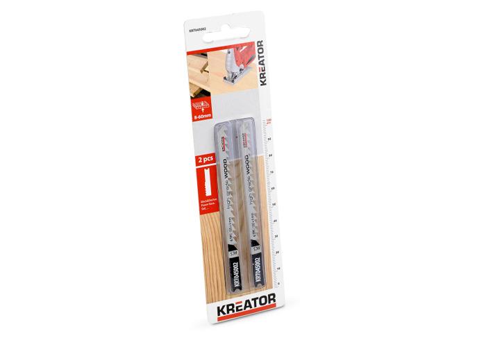 Kreator 2PK 100mm 6TPI 4-30mm U-Shaped High Grade Wood Jigsaw Blades KRT045002 - 2