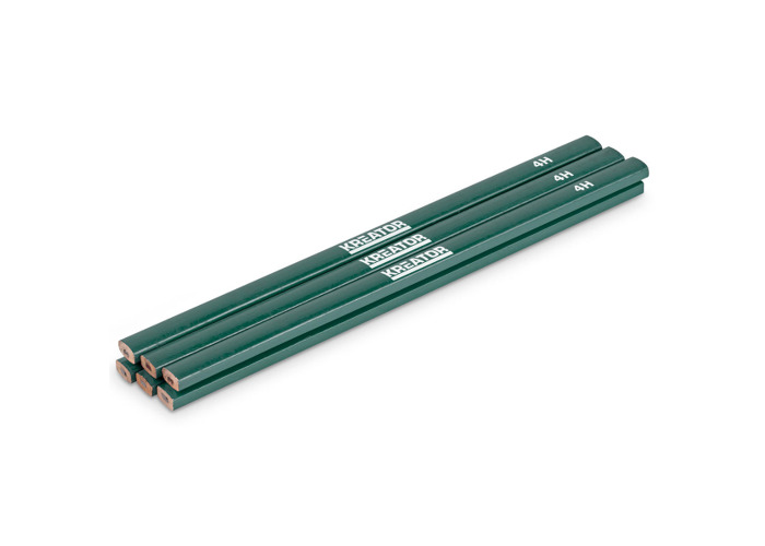 Kreator 6PK Green 4H Tradesman Pencils KRT710002 - 2