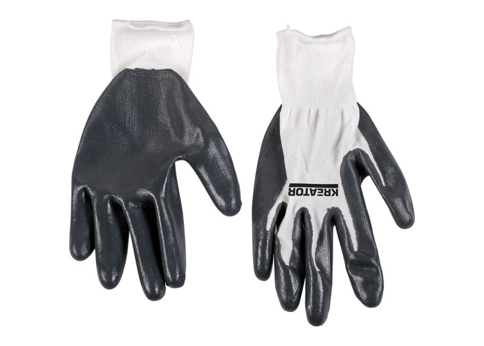 Kreator Industrial Nitrile Coating Gloves - Size 10 KRTW011XL - 1