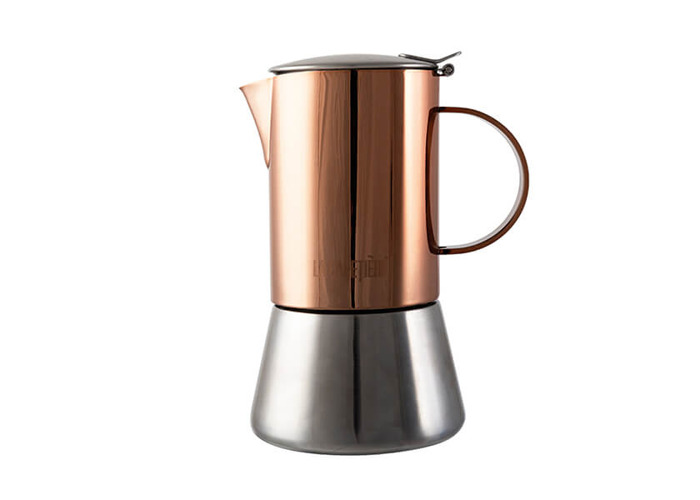 La Cafetiere 4 Cup Stainless Steel Copper Stovetop Espresso Maker - 1