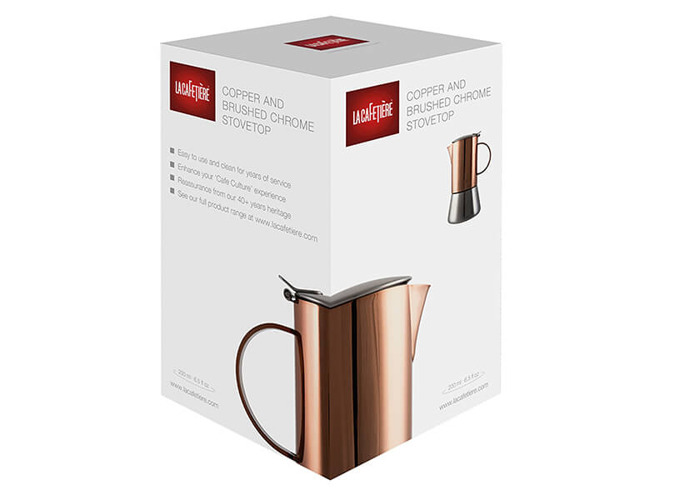 La Cafetiere 4 Cup Stainless Steel Copper Stovetop Espresso Maker - 2