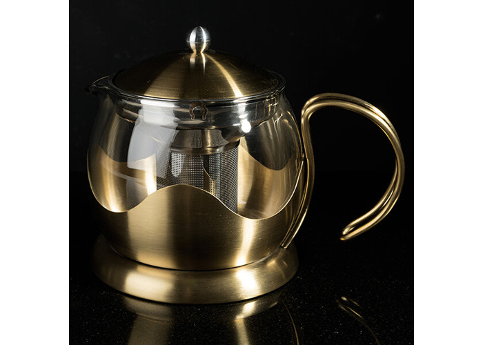La Cafetiere Edited 1200ml Le Teapot Brushed Gold - 2