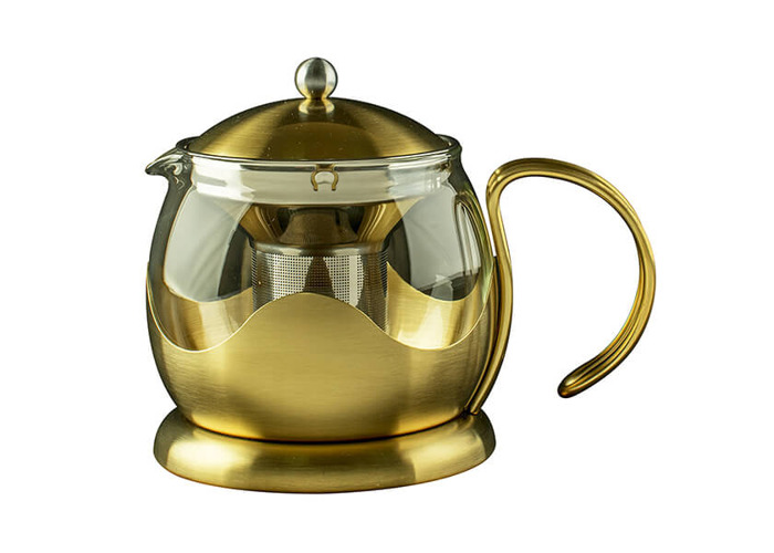 La Cafetiere Edited 1200ml Le Teapot Brushed Gold - 1