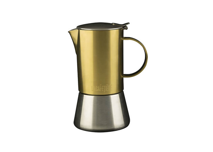 La Cafetiere Edited 4 Cup Stainless Steel Stovetop Espresso Maker Brushed Gold - 1