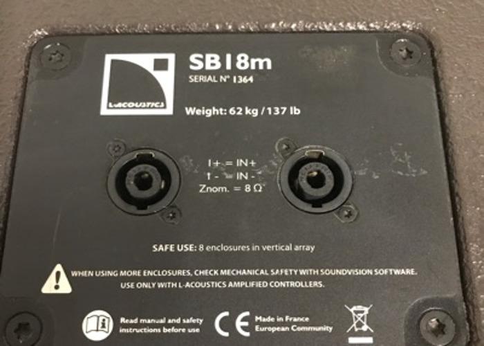 """L-Acoustics SB18m 18"""" Subwoofer - 2"""