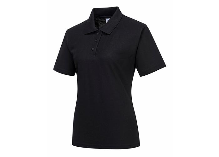 Ladies Polo Shirt  Black  XSmall  R - 1