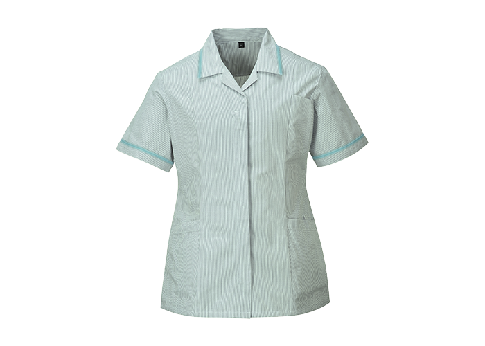 Ladies Striped Tunic  Aqua  XL  R - 1