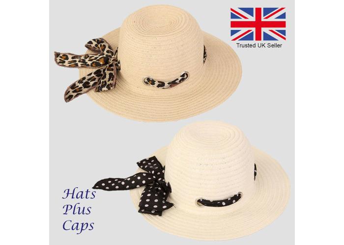 Summer Beach Hat For Women Girl Foldable//Packable Wide Brim Straw Sunhat