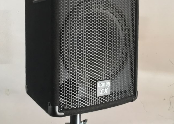 Laney CX PA 2x speakers inc stands and mixer - 2