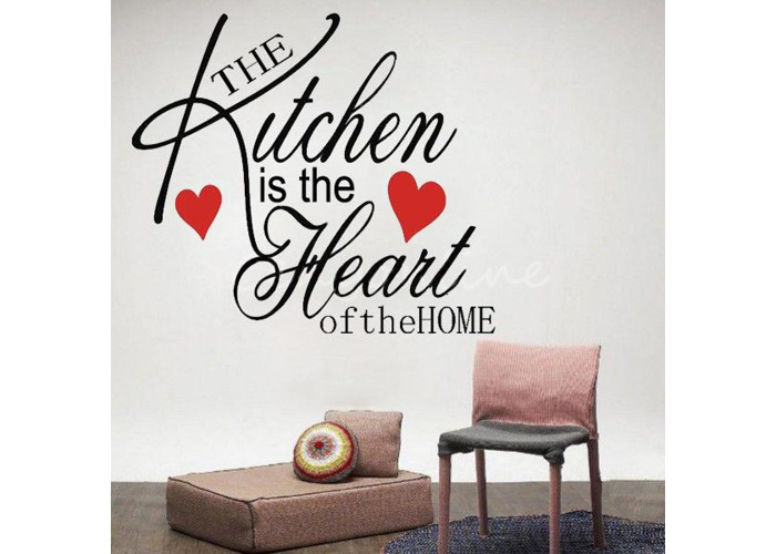 Large Decor Removable Kitchen Heart Home Wall Sticker Decal - 1